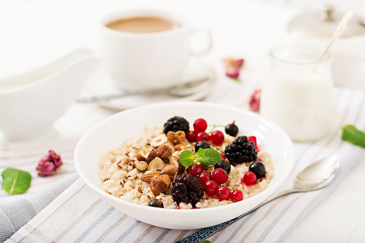 Healthy and energy breakfast