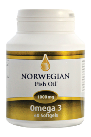 Norwegian Fish Oil Omega 3 1000 mg 60 softgels