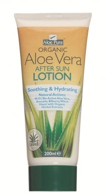 Optima Organic Aloe Vera After Sun Lotion 200 ml