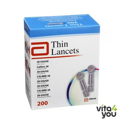 Abbott Thin Lancet 200 τμχ
