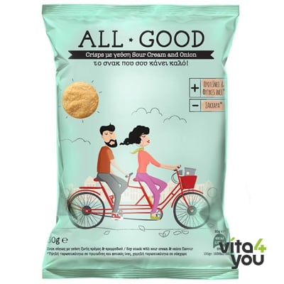 Power Health All Good High Protein Crisps Sour Cream Onion 30 gr