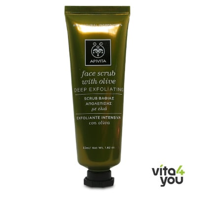 Apivita Deep Exfoliating Face Scrub with Olive 50 ml