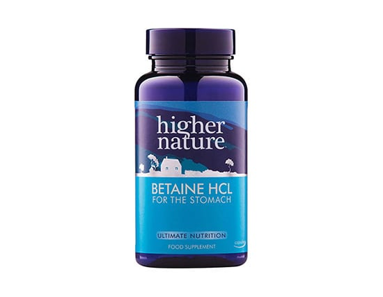Higher Nature Betaine HCL 90 caps