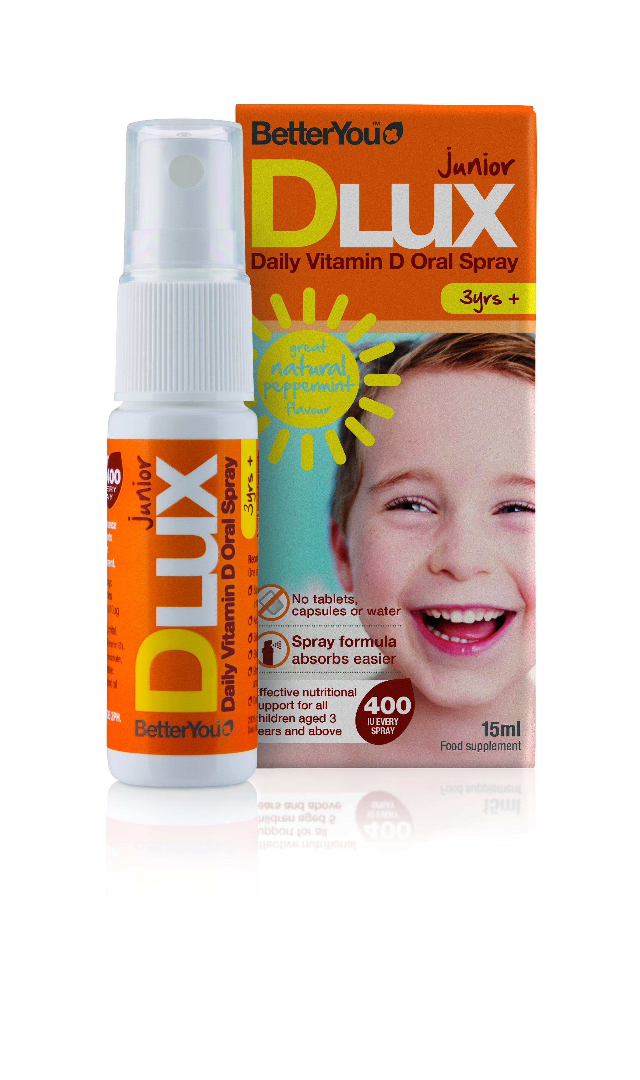 BetterYou Dlux Junior Vitamin D oral spray 400 IU 15 ml