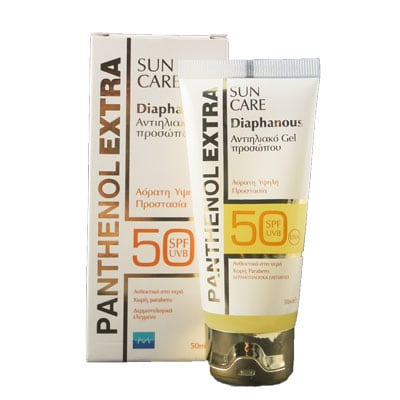 Panthenol Extra Sun Care Diaphanous Face Gel SPF50 50 ml