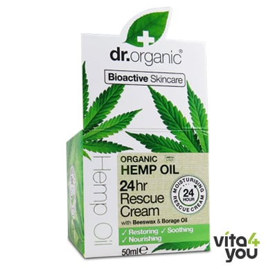 Dr. Organic Organic Hemp Oil 24hr Rescue Cream 50 ml