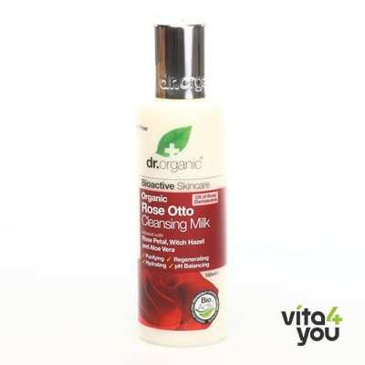 Dr. Organic Rose Otto Cleansing Milk 150ml