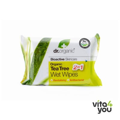 Dr. Organic Tea Tree Wet Wipes 20 pieces