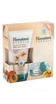 Himalaya Σετ Gentle Exfoliating Daily Face Wash 150ml & Nourishing Skin Cream 50ml