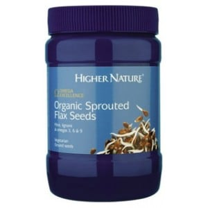 Higher Nature Organic Sprouted Flax Seeds 250 gr