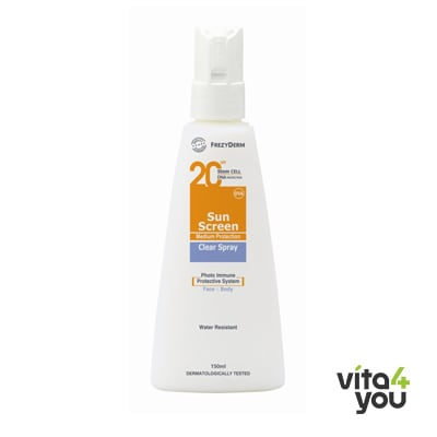 Frezyderm Sunscreen Clear Spray SPF20 150 ml