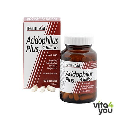Health Aid Acidophilus Plus 4 Billion Vegicaps 60 caps