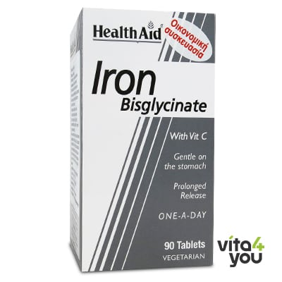 Health Aid Iron Bisglycinate 90 tabs