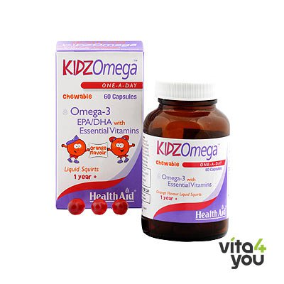 Health Aid Kidz Omega 60 chewable caps