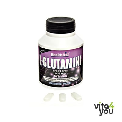 Health Aid L-Glutamine 500 mg 60 tabs