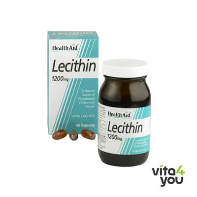 Health Aid Lecithin 1200 mg (unbleached) 50 caps