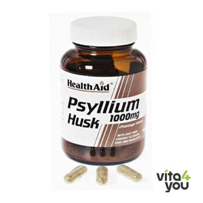 Health Aid Psyllium Husk 1000 mg 60 caps