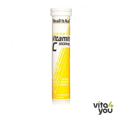 Health Aid Vitamin C 1000 mg 20 eff tabs lemon