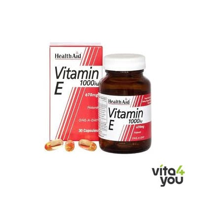 Health Aid Vitamin E 1000 IU Natural 30 caps