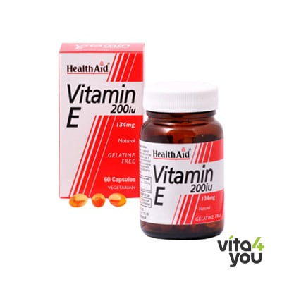 Health Aid Vitamin E 200 IU Natural 60 caps