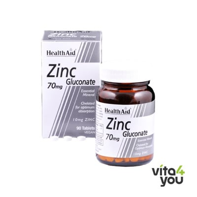 Health Aid Zinc Gluconate 70 mg 90 tabs