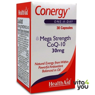 Health Aid Conergy CoQ-10 30 mg 30 caps