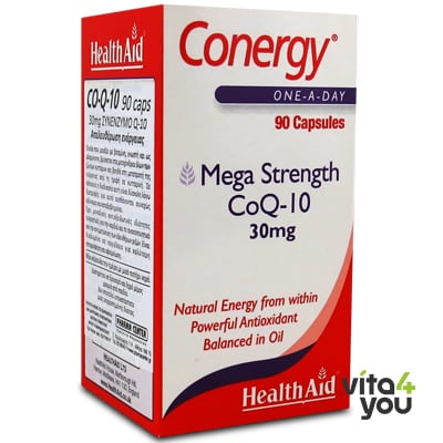 Health Aid Conergy CoQ-10 30 mg Economy 90 caps