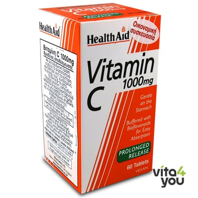 Health Aid Vitamin C 1000 mg prolonged release 60 tabs