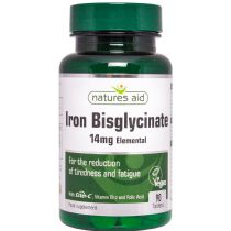 Nature's Aid Iron Bisglycinate 14 mg + Ester-C + B12 90 tabs