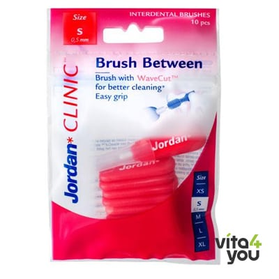 Jordan Clinic Brush Between Small 0.5 mm 10 pcs