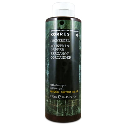 Korres Mountain Pepper Bergamot Coriander Showergel 250 ml