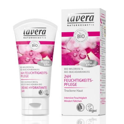 Lavera Organic Wild Rose & Macadamia Ultra-hydrating 24hour face cream 50 ml