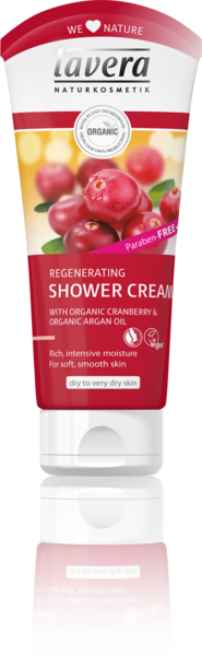Lavera Regenerating Shower Cream with organic Cranberry & Argan oil 200 ml