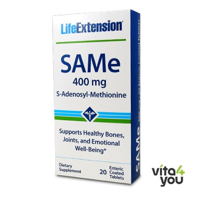 Life Extension SAMe 400 mg 20 enteric coated tablets