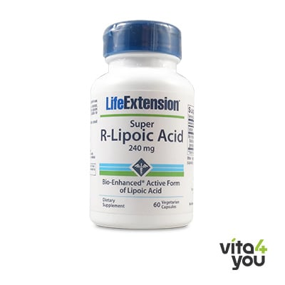 Life Extension Super R-Lipoic Acid 240 mg 60 veg. caps