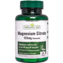 Nature's Aid Magnesium Citrate 125 mg B6 60 tabs