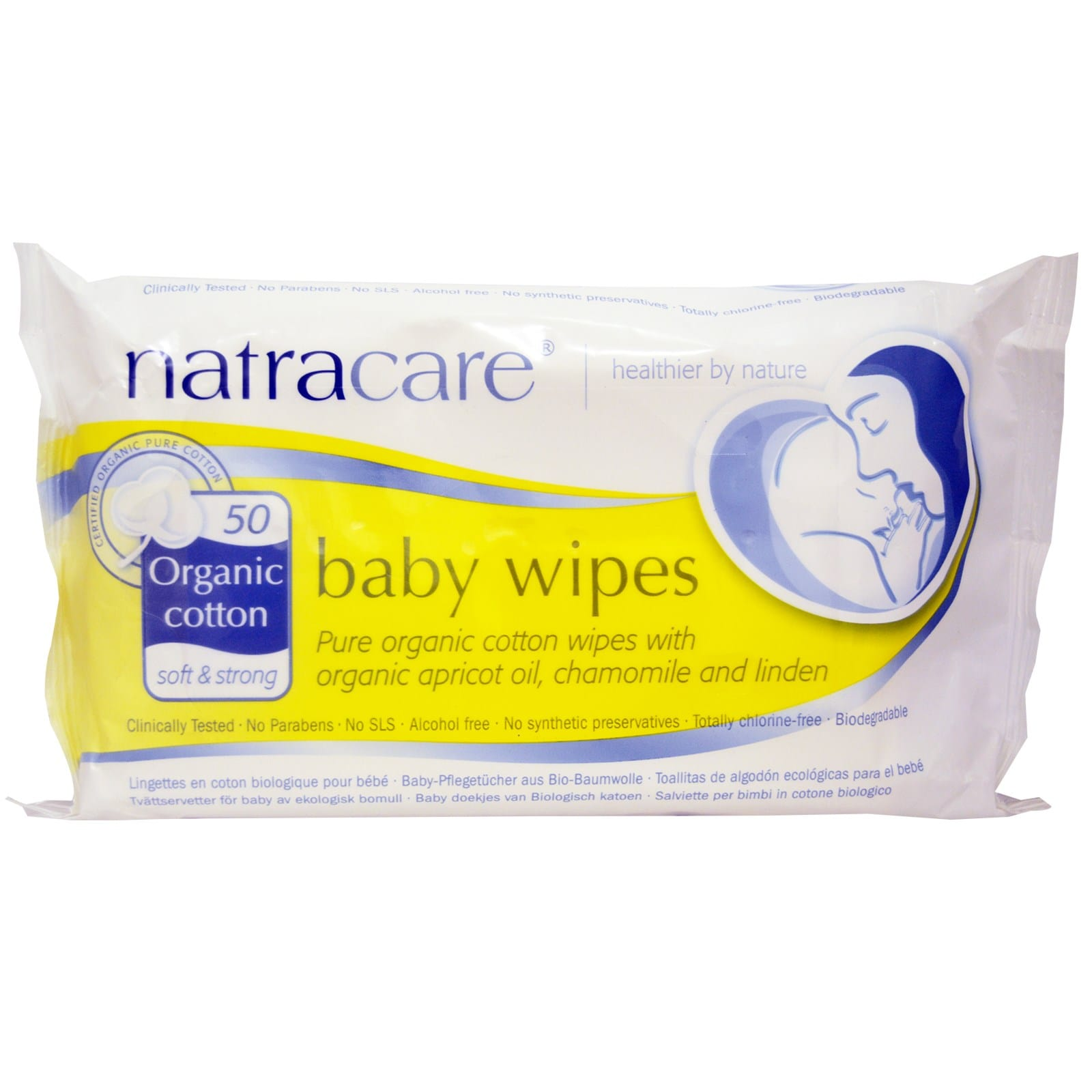 Natracare Organic Baby Wipes 50 pcs