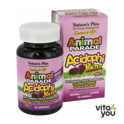 Nature's Plus Animal Parade AcidophiKidz 90 chewable tabs
