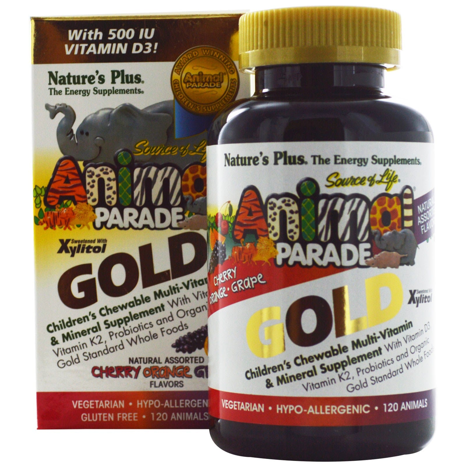 Nature's Plus Animal Parade Gold Cherry 60 tabs
