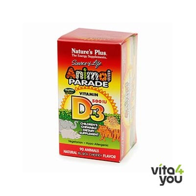 Nature's Plus Animal Parade Vitamin D3 500 IU Children's 90 chewable tabs