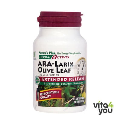 Nature's Plus Ara-Larix Olive Leaf 750mg 30 tabs