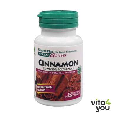Nature's Plus Cinnamon 350mg 60 vcaps