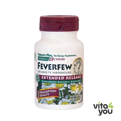 Nature's Plus Feverfew 500 mg 60 tabs