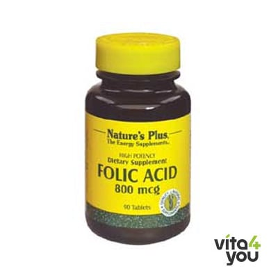 Nature's Plus Folic Acid 800 mcg 90 tabs