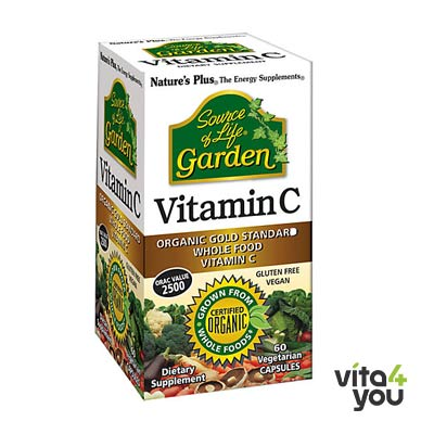Nature's Plus Garden Organic Vitamin C 60 vcaps
