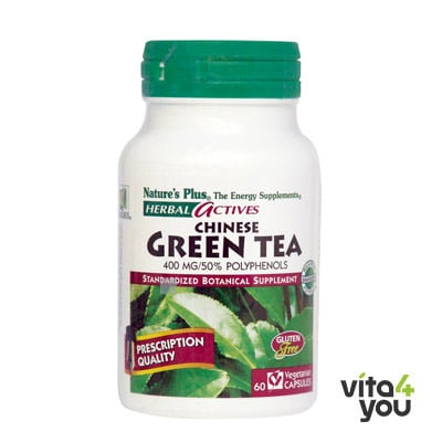 Nature's Plus Herbal Actives Chinese Green Tea 400 mg 60 veg.caps™
