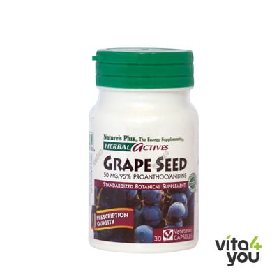 Nature's Plus Herbal Actives Grape Seed 50mg 30 veg.caps