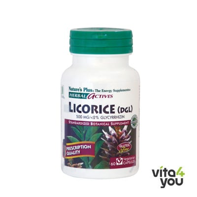 Nature's Plus Herbal Actives Licorice (DGL) 500 mg 60 veg.caps™