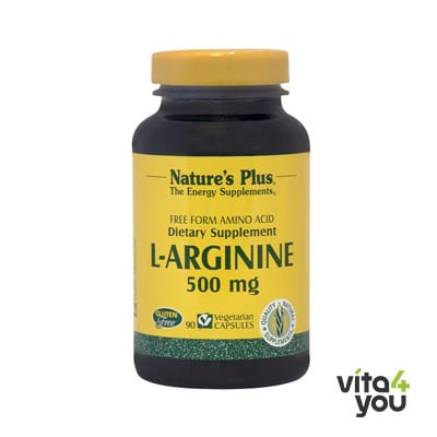 Nature's Plus L-Arginine 500 mg 90 Vcaps