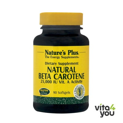Nature's Plus Natural Beta Carotene 15 mg 90 softgels